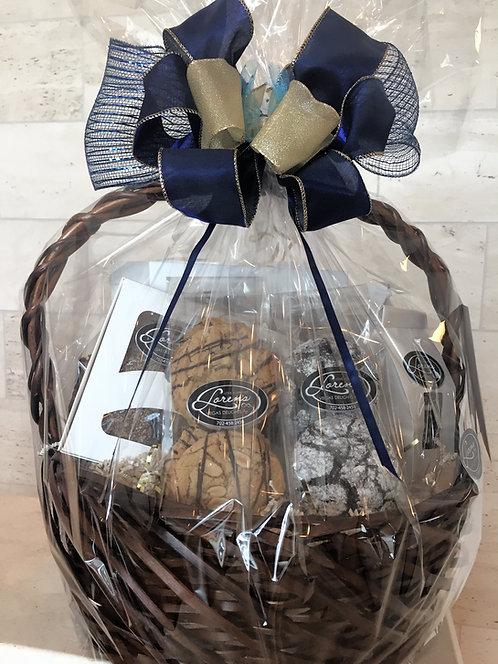 Blue & Gold Gift Basket