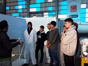 Alumnos del INB colaboran en la preparación de nuestro Imoca60 para la Vendée Globe'20