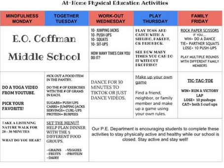EOC AT-HOME Physical Education