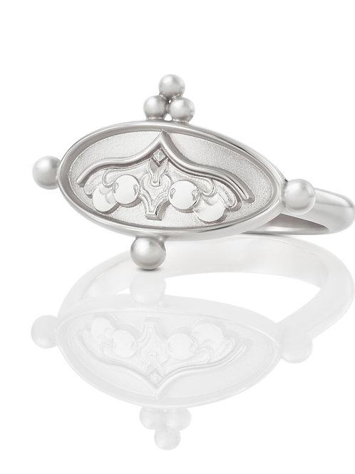 """Ring """"Engel unter dem Kielbogen"""" in 935er Silber/ rhodiniert"""