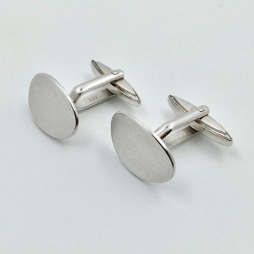 Manschettenknöpfe in 935er Silber/ rhodiniert
