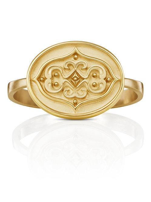 """Ring in 750/- Gelbgold """"Orament gespiegelt"""""""