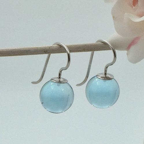 Ohrhänger mit Blautopas in 925er Silber