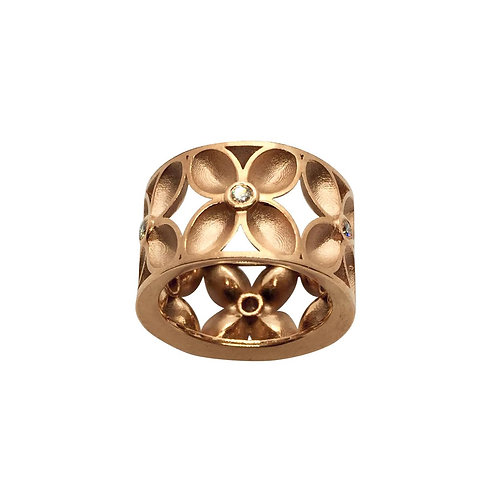 "Ring in 750/- Rosegold ""Vierpass"""