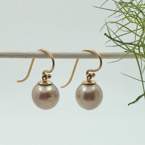 Ohrhänger mit Ming Perlen in 750er Rotgold