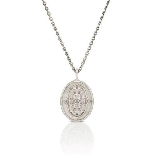 """Anhänger """"gespiegeltes Ornament"""" in 935/- Silber/ rhodiniert"""