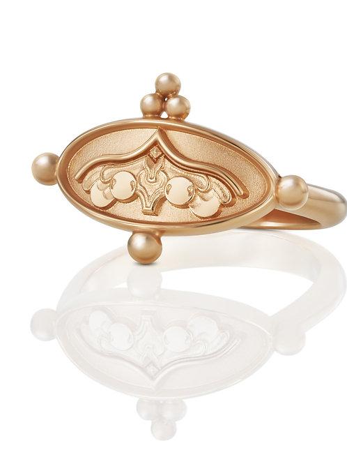 """Ring """"Engel unter dem Kielbogen"""" in 750er Roségold"""