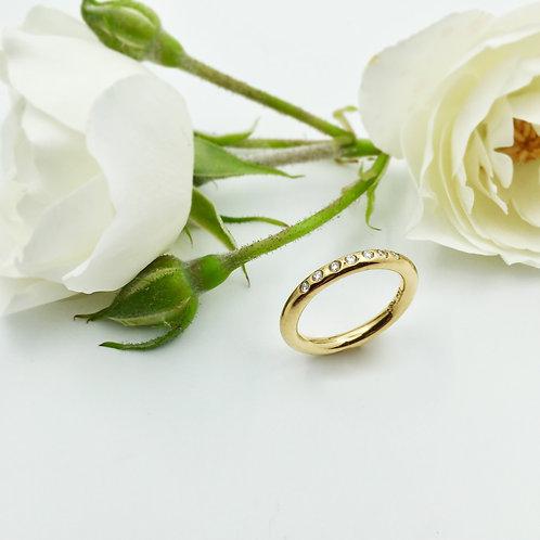Verlobungsring mit Brillanten in 750er Gelbgold, RW 53