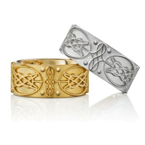 """Trauringe """"8-er Ring"""" 935er Silber & 750er Gelbgold"""