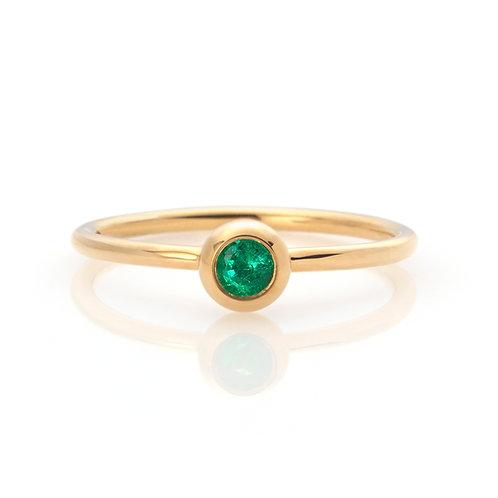 Ring in 750er Gelbgold mit Smaragd, in RW 52,5