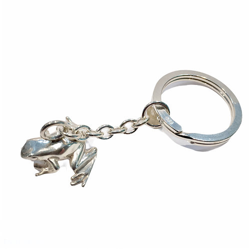 """Schlüsselanhänger """"Frosch"""" in 925er Silber/ rhodiniert"""