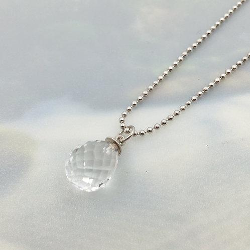 Anhänger mit Bergkristall in 925er Silber