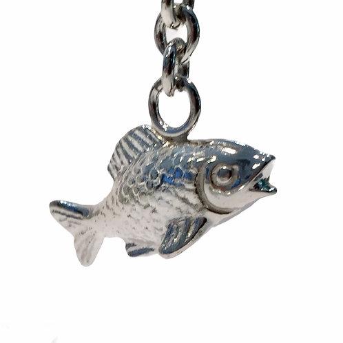 """Schlüsselanhänger """"Fisch"""" in 925er Silber/ rhodiniert"""