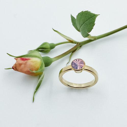 Ring mit Turmalin in 750er Gelbgold, RW 52,5