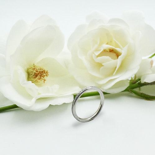 Verlobungsring mit Brillanten in 750er Weißgold/ rhodiniert, RW 51
