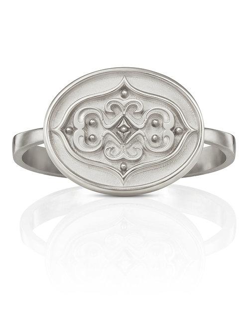 """Ring in 935er Silber """"Ornament gespiegelt"""""""