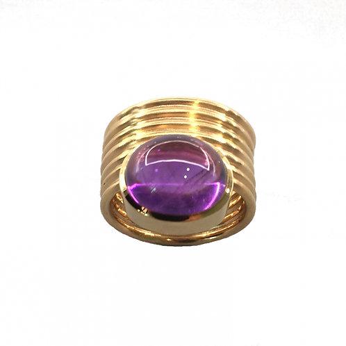 Ring in 750/- Gelbgold  mit Amethyst, RW 53