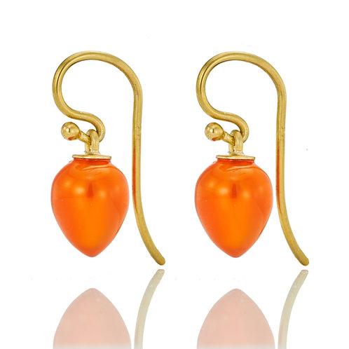 Ohrhänger mit Carneol in 750er Gelbgold