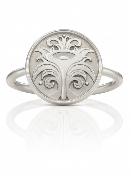 "Ring in 935/- Silber/ rhodiniert ""Calla-Blüte"""