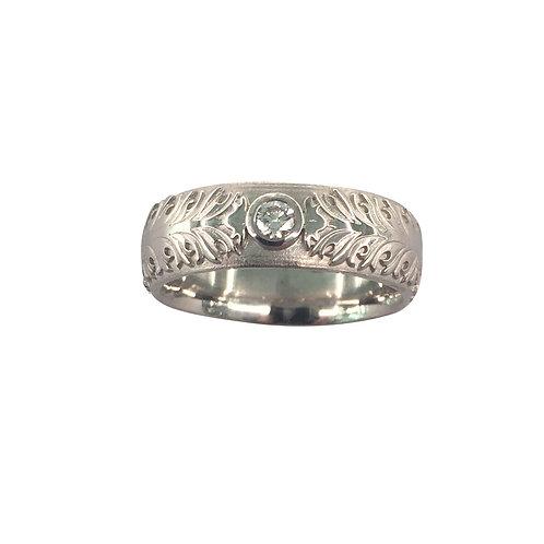 """Ring in 760/- Weißgold/ rhodiniert """"Akanthus"""""""