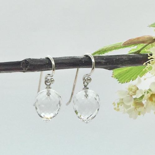 Ohrhänger mit Bergkristall in 935er Silber
