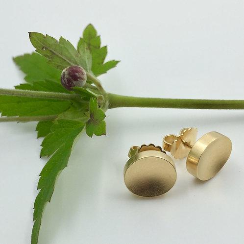 "Ohrstecker ""oval"" in 925er Silber/ Gelbgold Plattierung"