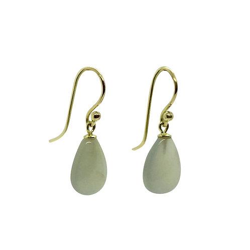 1 Paar Ohrhänger in 750/- Gelbgold mit Mondstein