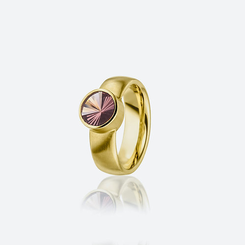 Ring mit Turmalin in 750er Gelbgold, RW 53