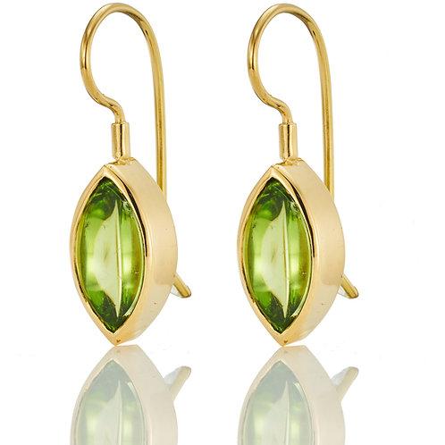 1 Paar Ohrhänger in 750/- Gelbgold mit Peridot