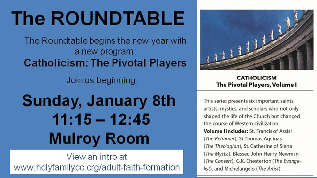 Roundtable is Back!  January 8, 2017