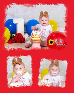 childrens first birthday photoshoot, cut