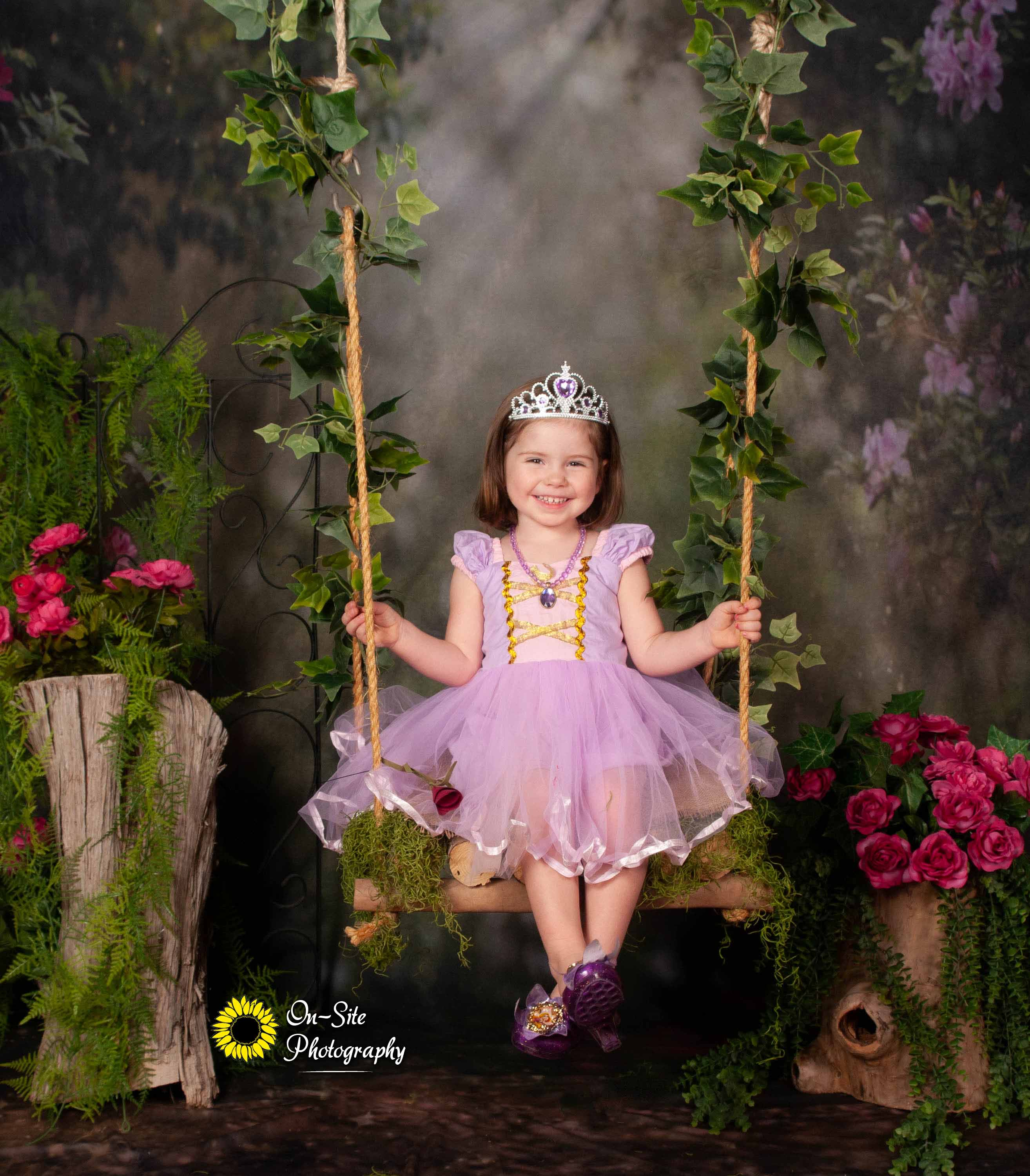 princess rapunzel photo session, little