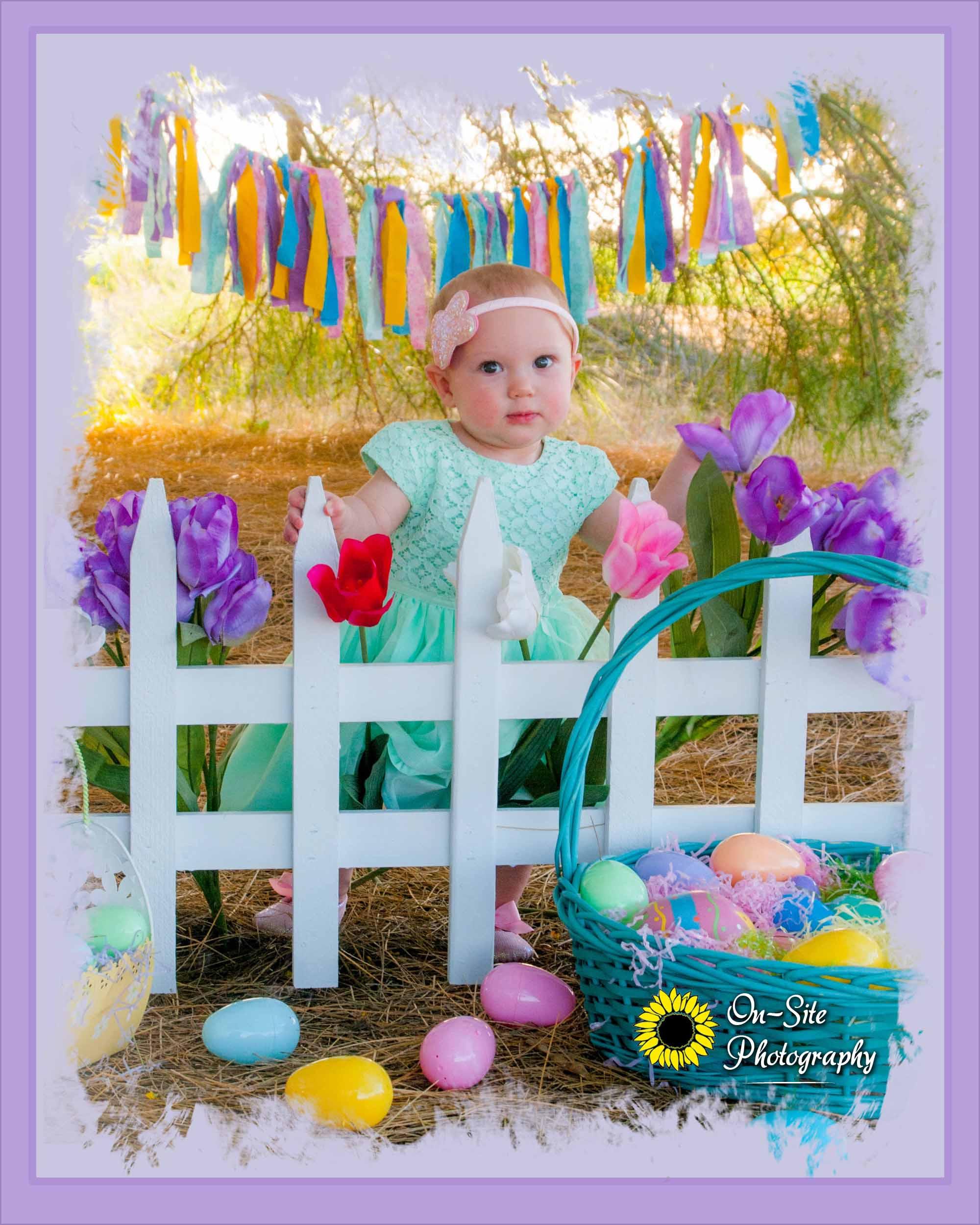 cutest easter baby girl photos, adorable
