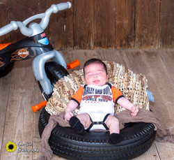newborn baby boy  harley outfit, baby photographer on site photographys studio buckeye, az