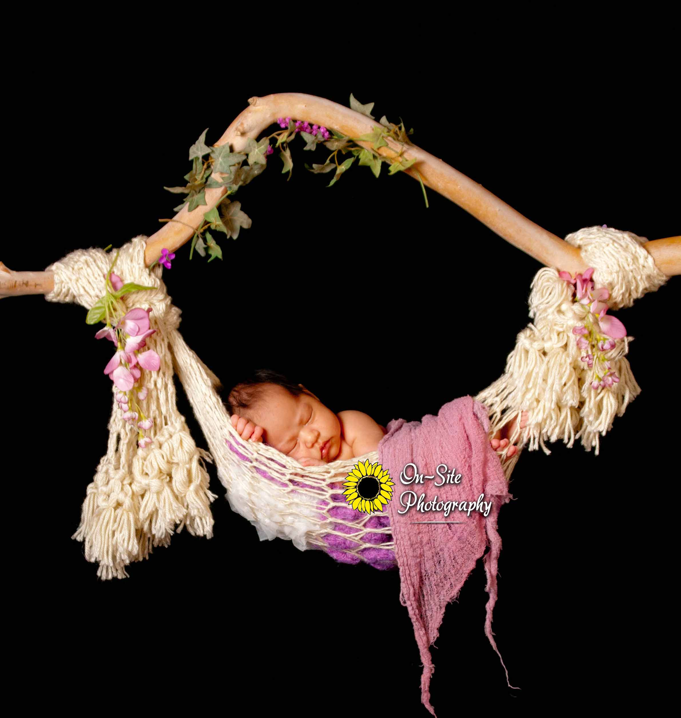 adorable baby hammock pose, cutest newborn baby girl in hammock, newborn images,on-site photography