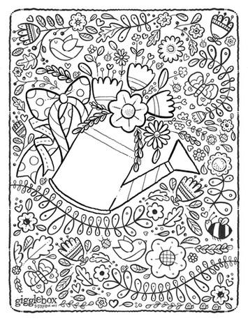 Gigglebox Design Coloring Page