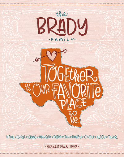 TOGETHER IS OUR FAVORITE PLACE TO BE - TEXAS