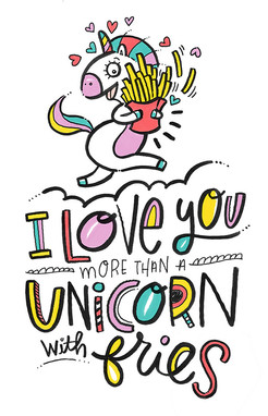 UNICORN WITH FRENCH FRIES