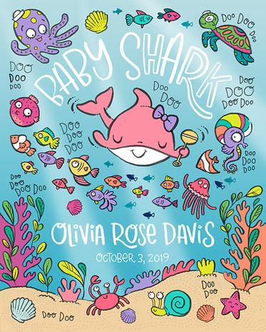 BABY GIRL SHARK DOO DOO DOO
