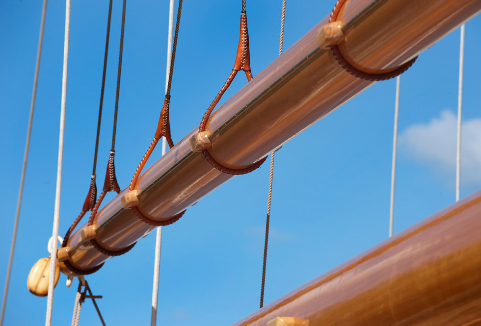 Brasker schooner boom