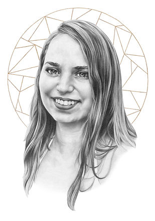 chloe aisha, gilded portrait, realistic pencil drawing, hyperrealistic graphite