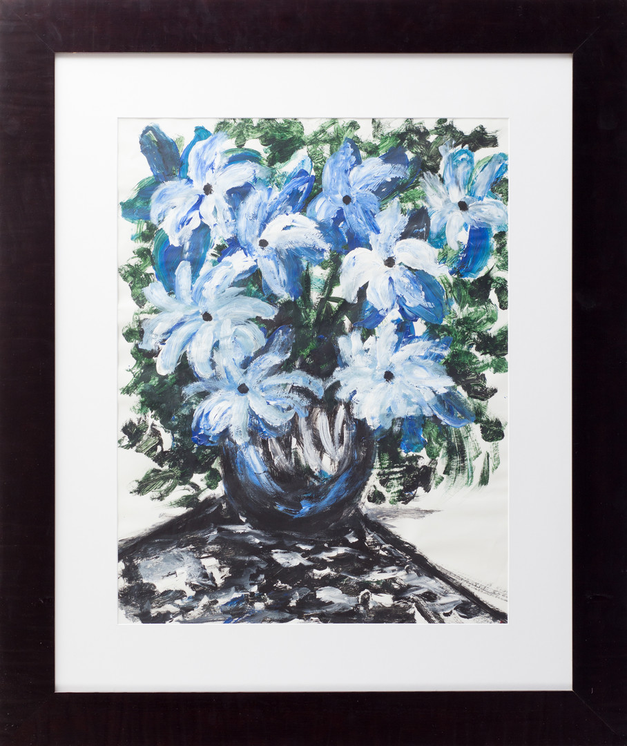 Blue dream (still life with flowers)