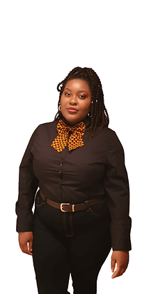 Women's Black and Gold Ankara Bowtie