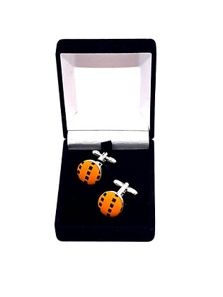 Orange Design Kente Cufflinks