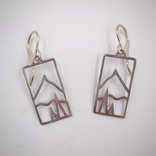 """My Mountain"" Vertical Earrings"