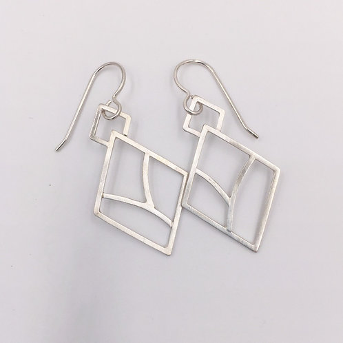Organic Diamond Earrings