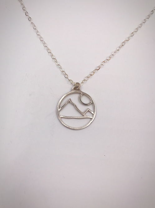 """My Mountain"" Circle Pendant"