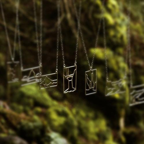 Multnomah Falls Landscape Pendant
