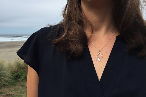 Organic Pebble Diamond Pendant