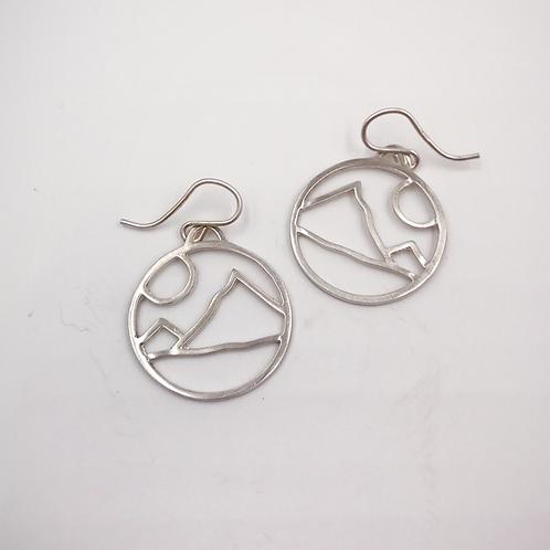 """My Mountain"" Circle Earrings"
